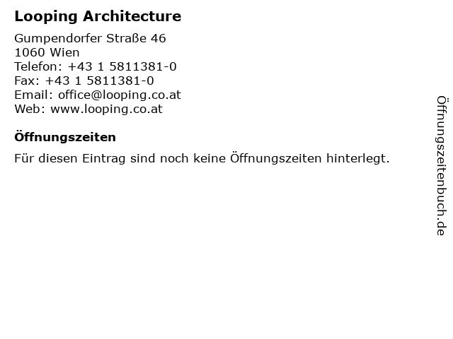 Looping Architecture in Wien: Adresse und Öffnungszeiten