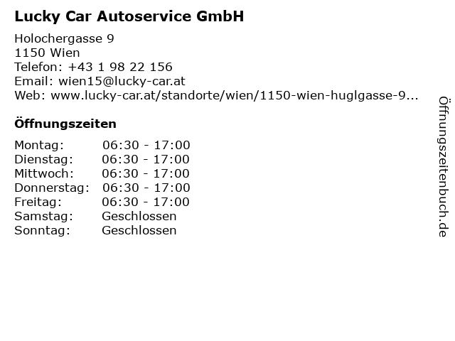 Lucky Car Autoservice GmbH in Wien: Adresse und Öffnungszeiten