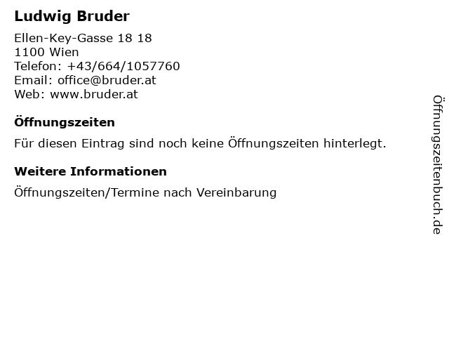 Ludwig Bruder in Wien: Adresse und Öffnungszeiten