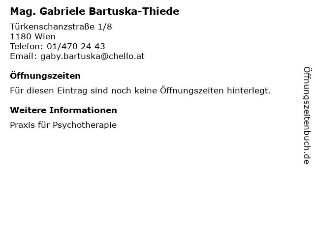Mag. Gabriele Bartuska-Thiede in Wien: Adresse und Öffnungszeiten
