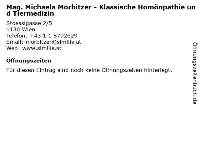 Mag. Michaela Morbitzer - Klassische Homöopathie und Tiermedizin in Wien: Adresse und Öffnungszeiten