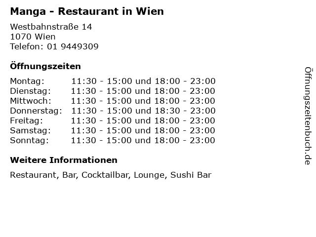 Manga - Restaurant in Wien in Wien: Adresse und Öffnungszeiten