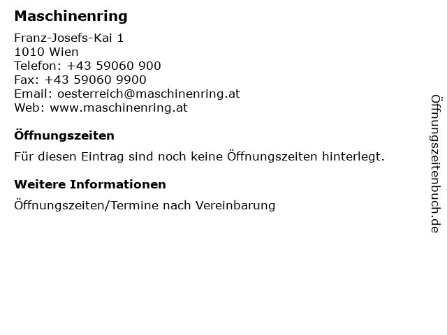 Maschinenring in Wien: Adresse und Öffnungszeiten