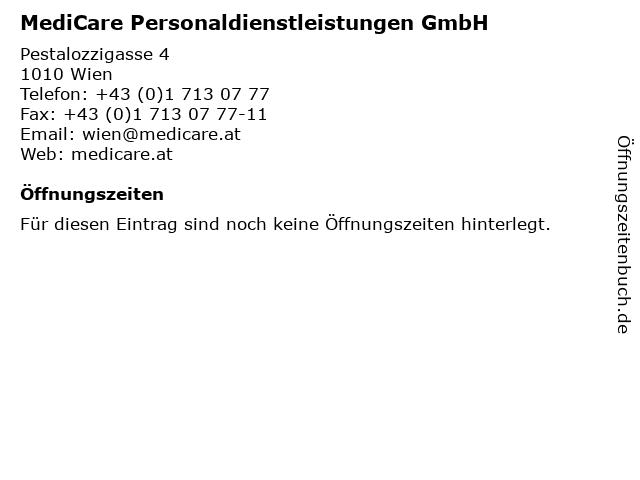 MediCare Personaldienstleistungen GmbH in Wien: Adresse und Öffnungszeiten