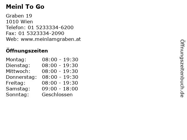 Meinl To Go in Wien: Adresse und Öffnungszeiten