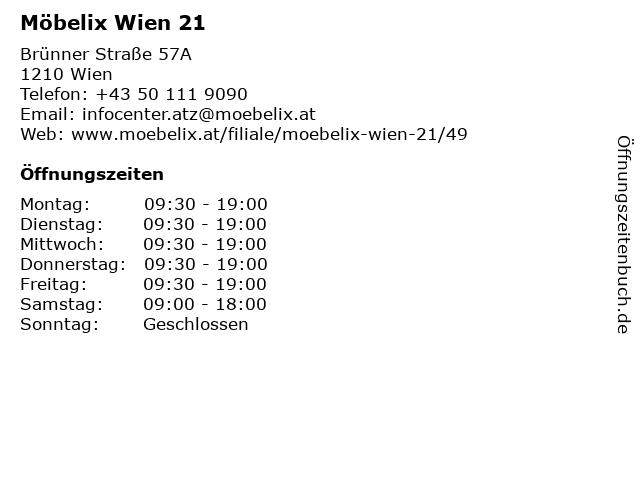 ᐅ öffnungszeiten Möbelix Wien 21 Brünner Straße 57a In Wien