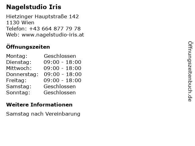 Nagelstudio Iris in Wien: Adresse und Öffnungszeiten