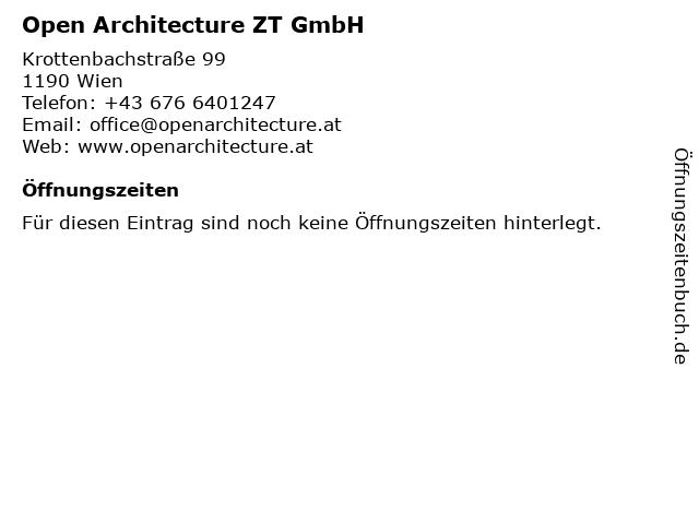 Open Architecture ZT GmbH in Wien: Adresse und Öffnungszeiten