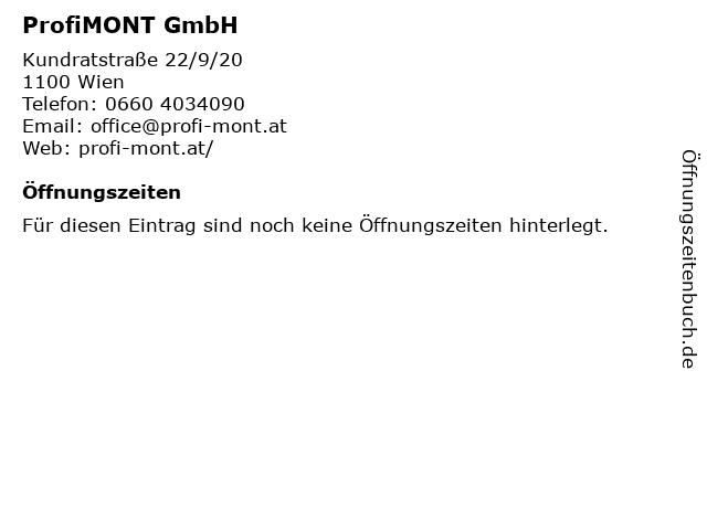 ProfiMONT GmbH in Wien: Adresse und Öffnungszeiten