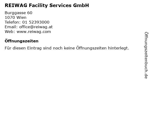 REIWAG Facility Services GmbH in Wien: Adresse und Öffnungszeiten