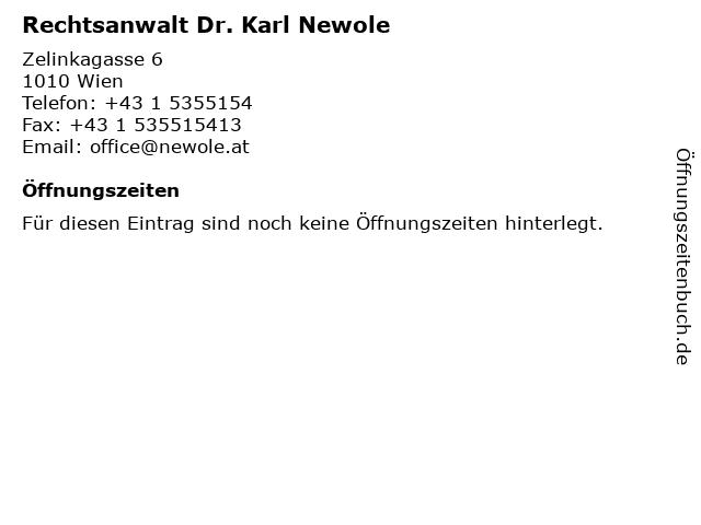 Rechtsanwalt Dr. Karl Newole in Wien: Adresse und Öffnungszeiten