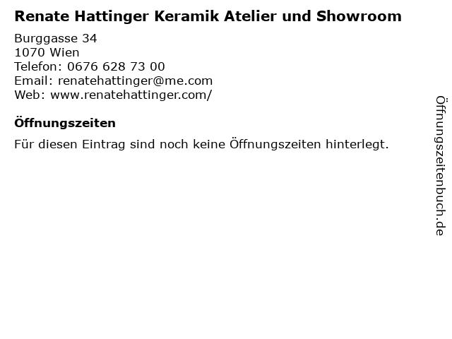 Renate Hattinger Keramik Atelier und Showroom in Wien: Adresse und Öffnungszeiten