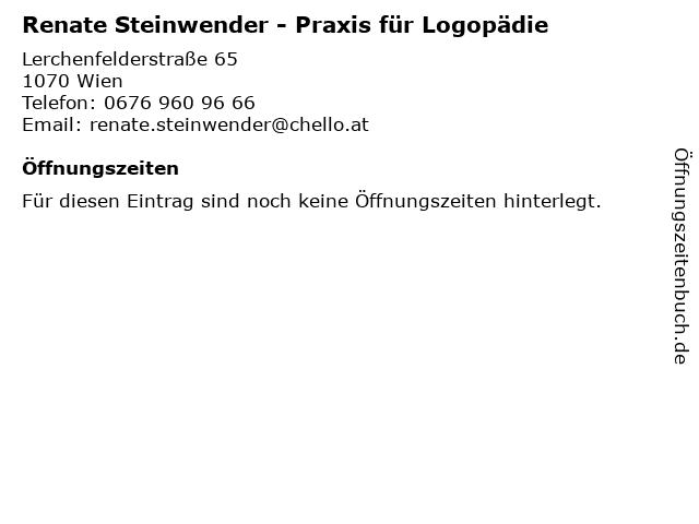 Renate Steinwender - Praxis für Logopädie in Wien: Adresse und Öffnungszeiten