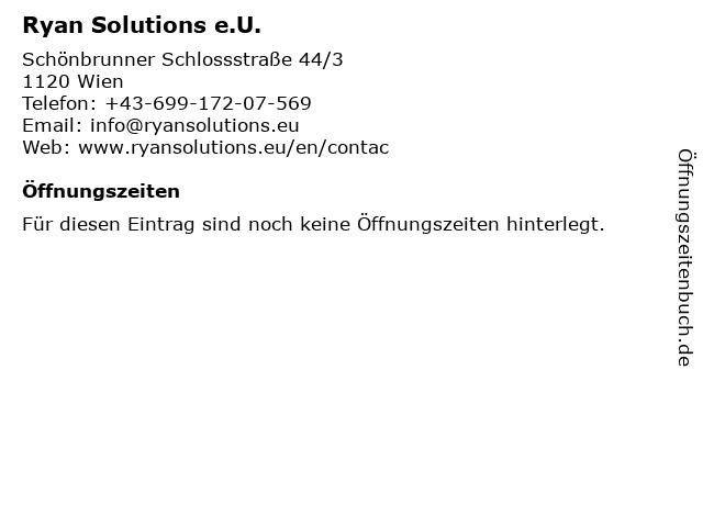 Ryan Solutions e.U. in Wien: Adresse und Öffnungszeiten