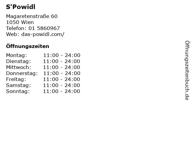 S'Powidl in Wien: Adresse und Öffnungszeiten