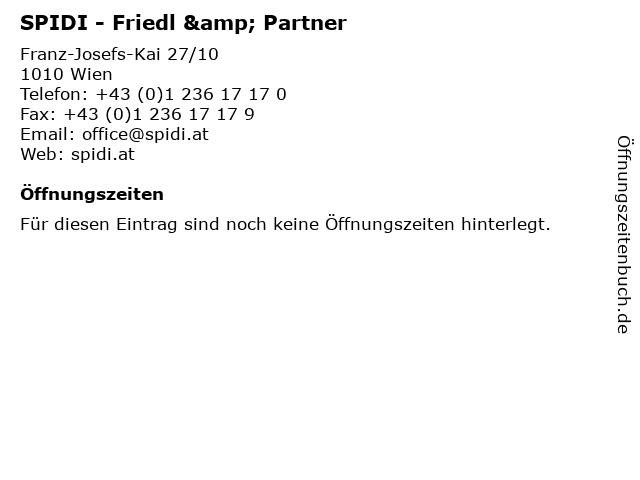 SPIDI - Friedl & Partner in Wien: Adresse und Öffnungszeiten