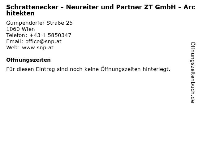 Schrattenecker - Neureiter und Partner ZT GmbH - Architekten in Wien: Adresse und Öffnungszeiten