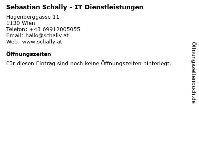 Sebastian Schally - IT Dienstleistungen in Wien: Adresse und Öffnungszeiten