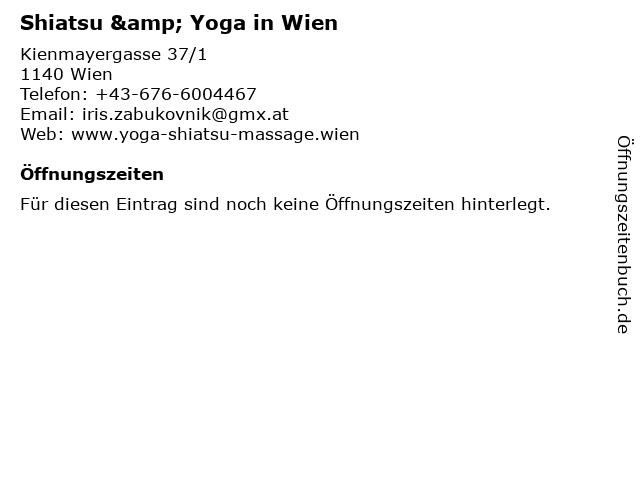 Shiatsu & Yoga in Wien in Wien: Adresse und Öffnungszeiten