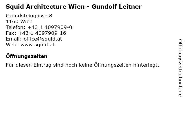 Squid Architecture Wien - Gundolf Leitner in Wien: Adresse und Öffnungszeiten