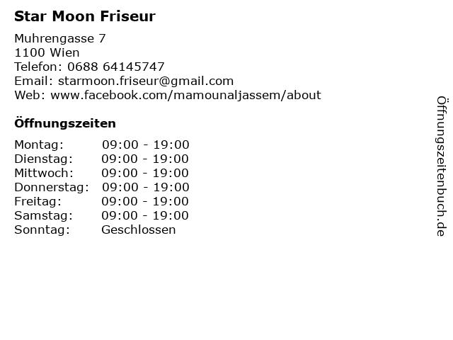 Star Moon Friseur in Wien: Adresse und Öffnungszeiten