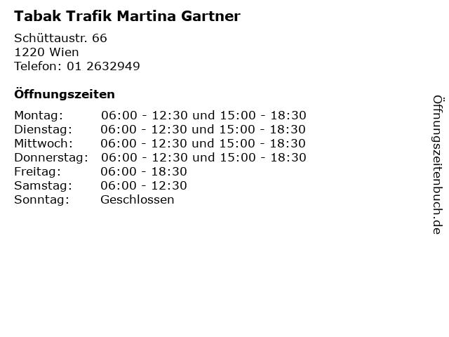 Tabak Trafik Martina Gartner in Wien: Adresse und Öffnungszeiten