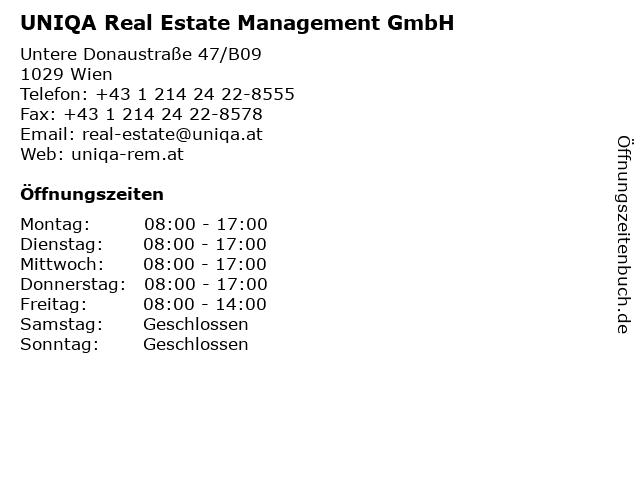 UNIQA Real Estate Management GmbH in Wien: Adresse und Öffnungszeiten