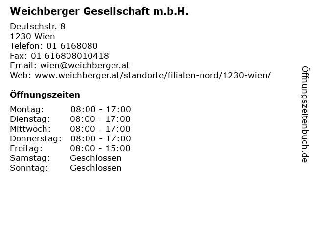 Weichberger Gesellschaft m.b.H. in Wien: Adresse und Öffnungszeiten