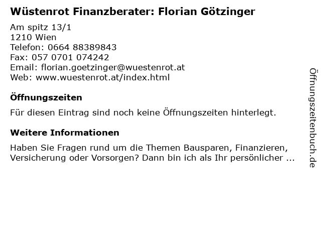 Wüstenrot Finanzberater: Florian Götzinger in Wien: Adresse und Öffnungszeiten