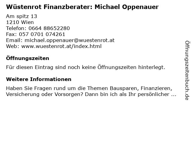 Wüstenrot Finanzberater: Michael Oppenauer in Wien: Adresse und Öffnungszeiten