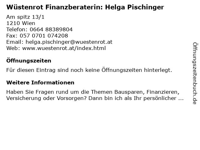 Wüstenrot Finanzberaterin: Helga Pischinger in Wien: Adresse und Öffnungszeiten