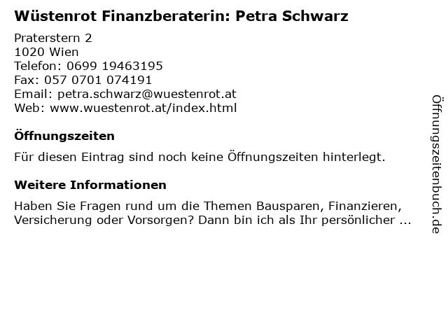 Wüstenrot Finanzberaterin: Petra Schwarz in Wien: Adresse und Öffnungszeiten