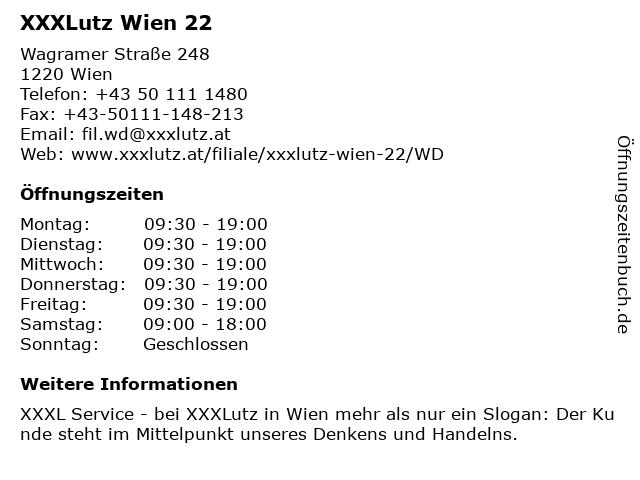 ᐅ öffnungszeiten Xxxlutz Wien 22 Wagramer Straße 248 In Wien