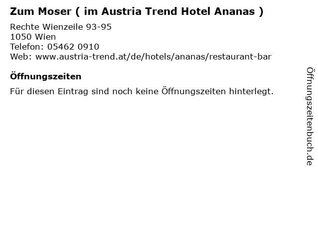 Zum Moser ( im Austria Trend Hotel Ananas ) in Wien: Adresse und Öffnungszeiten
