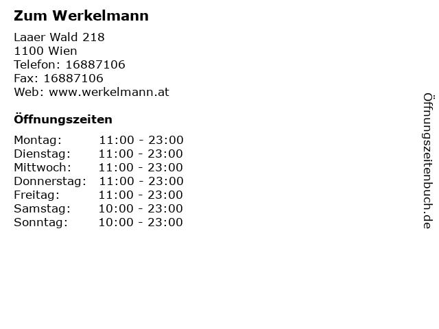Zum Werkelmann in Wien: Adresse und Öffnungszeiten