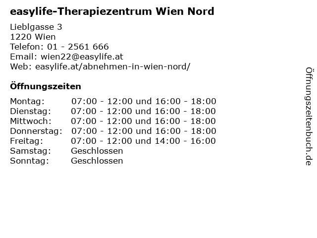 easylife-Therapiezentrum Wien Nord in Wien: Adresse und Öffnungszeiten