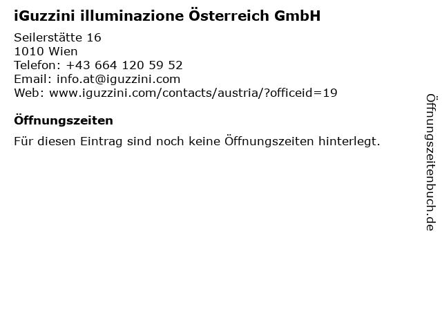 iGuzzini illuminazione Österreich GmbH in Wien: Adresse und Öffnungszeiten