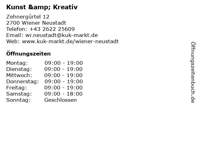 Kunst & Kreativ in Wiener Neustadt: Adresse und Öffnungszeiten