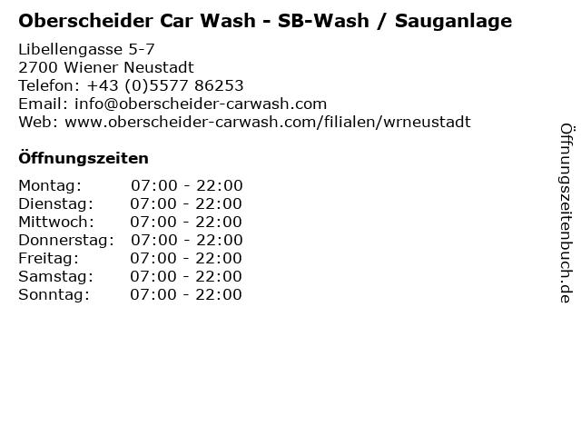 Oberscheider Car Wash - SB-Wash / Sauganlage in Wiener Neustadt: Adresse und Öffnungszeiten