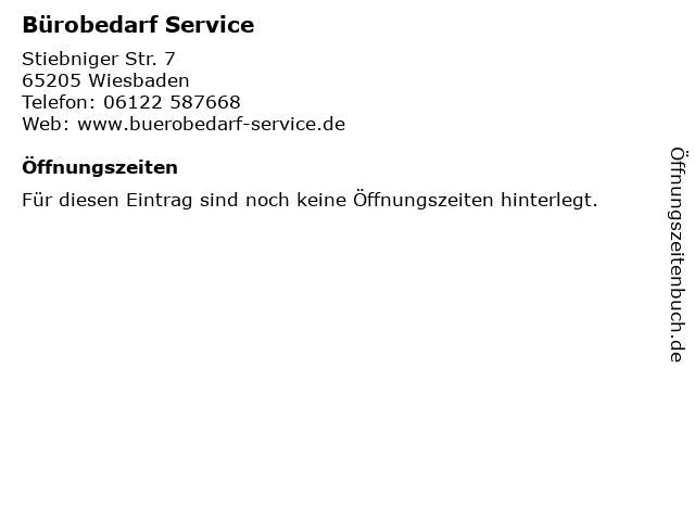 Bürobedarf Service in Wiesbaden: Adresse und Öffnungszeiten