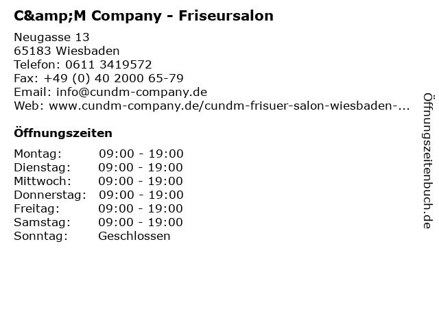 C&M Company - Friseursalon in Wiesbaden: Adresse und Öffnungszeiten
