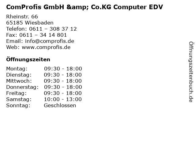 ComProfis GmbH & Co.KG Computer EDV in Wiesbaden: Adresse und Öffnungszeiten