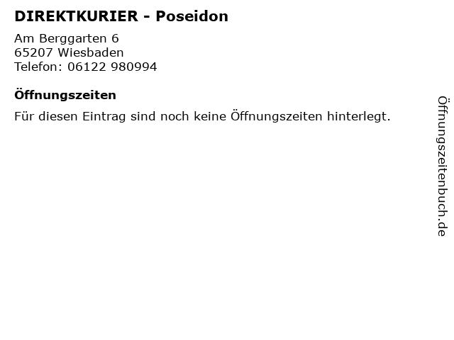 DIREKTKURIER - Poseidon in Wiesbaden: Adresse und Öffnungszeiten