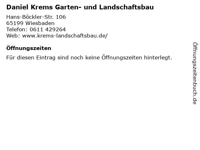 Daniel Krems Garten- und Landschaftsbau in Wiesbaden: Adresse und Öffnungszeiten