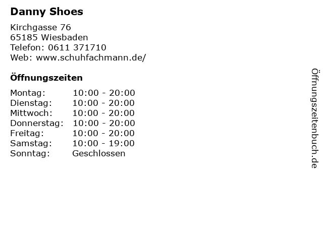 Danny Shoes in Wiesbaden: Adresse und Öffnungszeiten