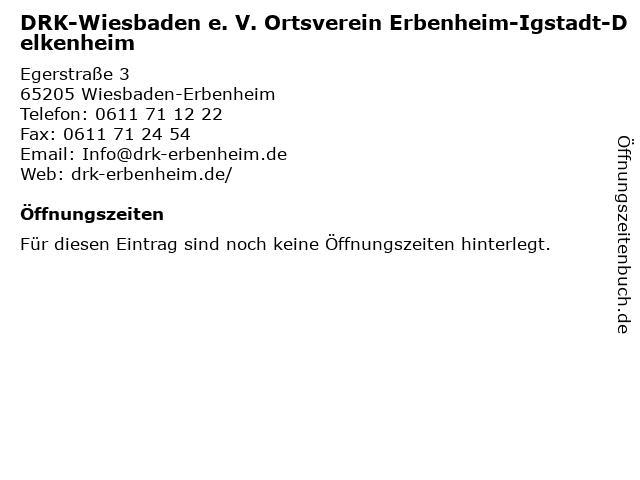 DRK-Wiesbaden e. V. Ortsverein Erbenheim-Igstadt-Delkenheim in Wiesbaden-Erbenheim: Adresse und Öffnungszeiten
