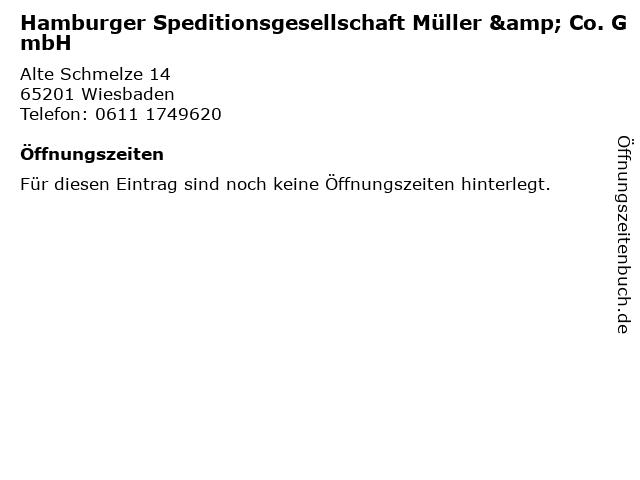 Hamburger Speditionsgesellschaft Müller & Co. GmbH in Wiesbaden: Adresse und Öffnungszeiten