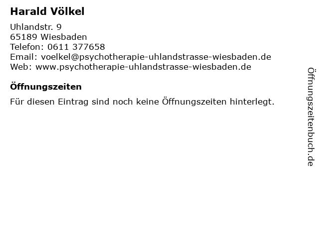 Harald Völkel in Wiesbaden: Adresse und Öffnungszeiten