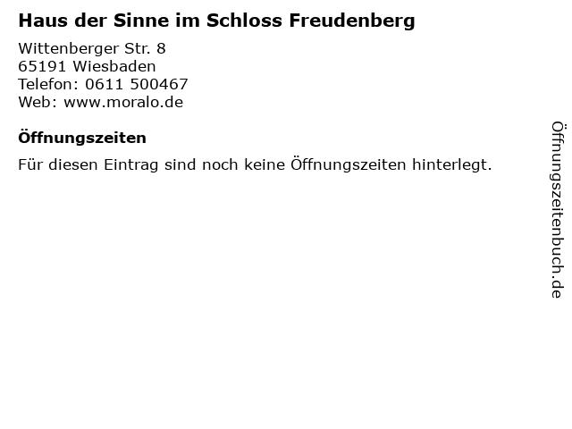 ᐅ Offnungszeiten Haus Der Sinne Im Schloss Freudenberg