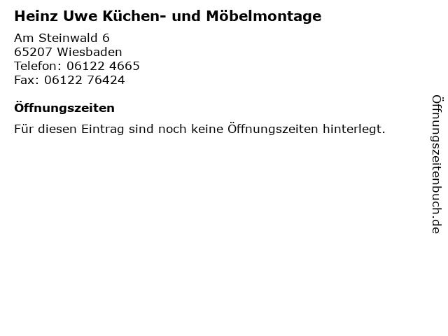 Heinz Uwe Küchen- und Möbelmontage in Wiesbaden: Adresse und Öffnungszeiten
